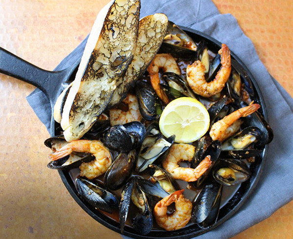 Oven Roasted Mussels and Shrimp