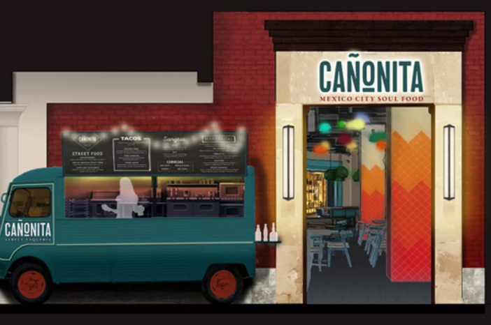 Concept drawing for updated Canonita restaurant