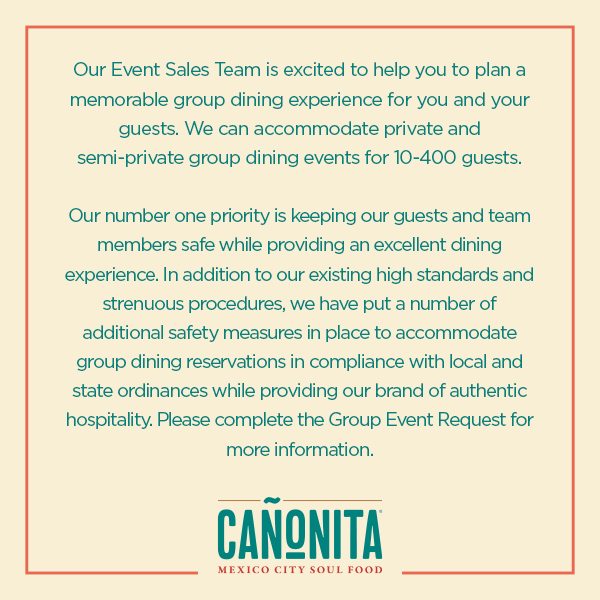 Canonita Group Dining